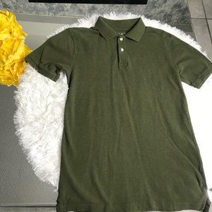 Children's Place Olive Green Short Sleeves Polo